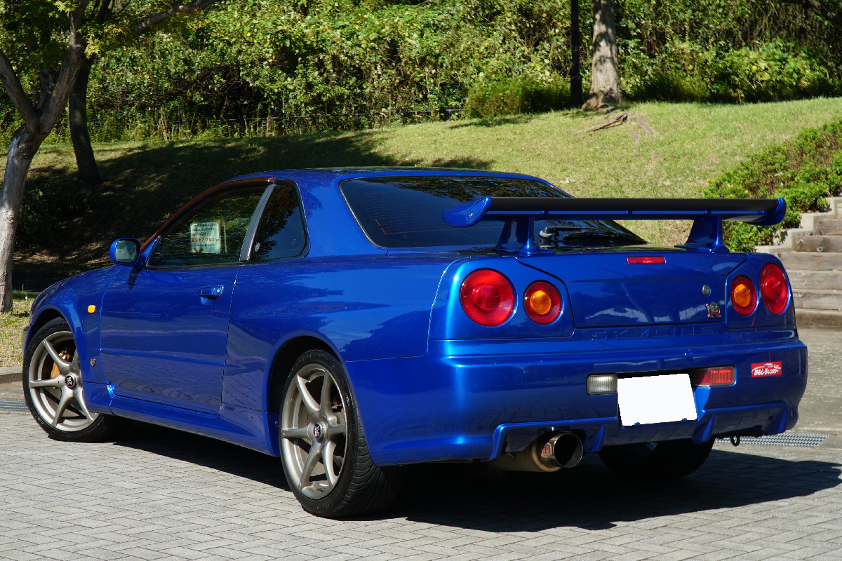 Skyline Gt R R34 Blue 3 Sports Car Open Car Specialized For